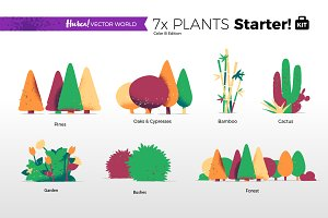 Plants Collection - Vector World
