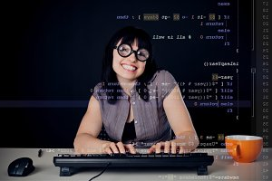 Female Nerd Programming