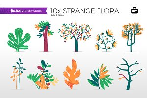 Strange Flora - Vector World