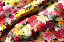 Flowers and silk