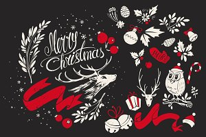 Christmas Hand-drawn Design Elements