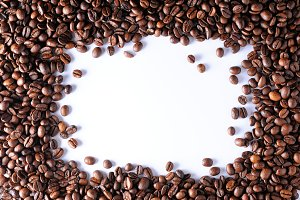 Background of a group coffee framing