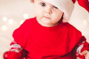 Baby in santa suit