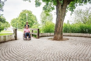 Senior People in Wheelchair