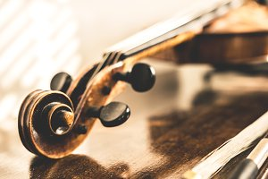 Detail of a classic violin