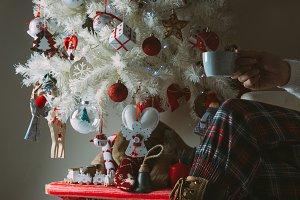 Young woman enjoying Christmas holidays