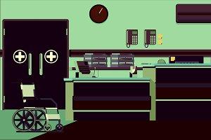 Hospital Reception Illustration