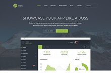 Evoke web app landing page PSD by  in Apps
