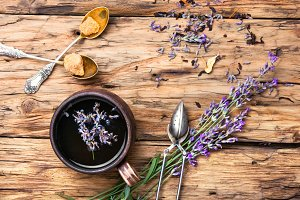 tea with lavender.