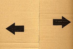arrows on cardboard