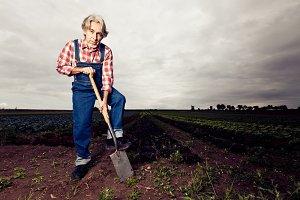 Farmer With Spade