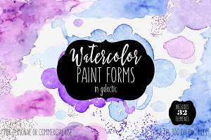 Watercolor Paint Edges Forms & Blobs
