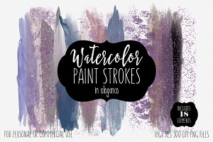 Elegance Watercolor Paint Strokes