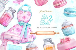 Let's Bake 2 Clipart Set