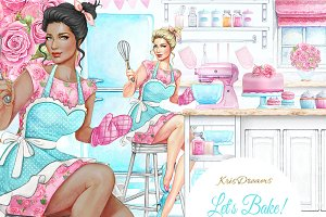 Let's Bake Clipart Set