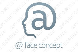 At Sign Face Profile Concept
