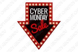Cyber Monday Sale Arrow Sign