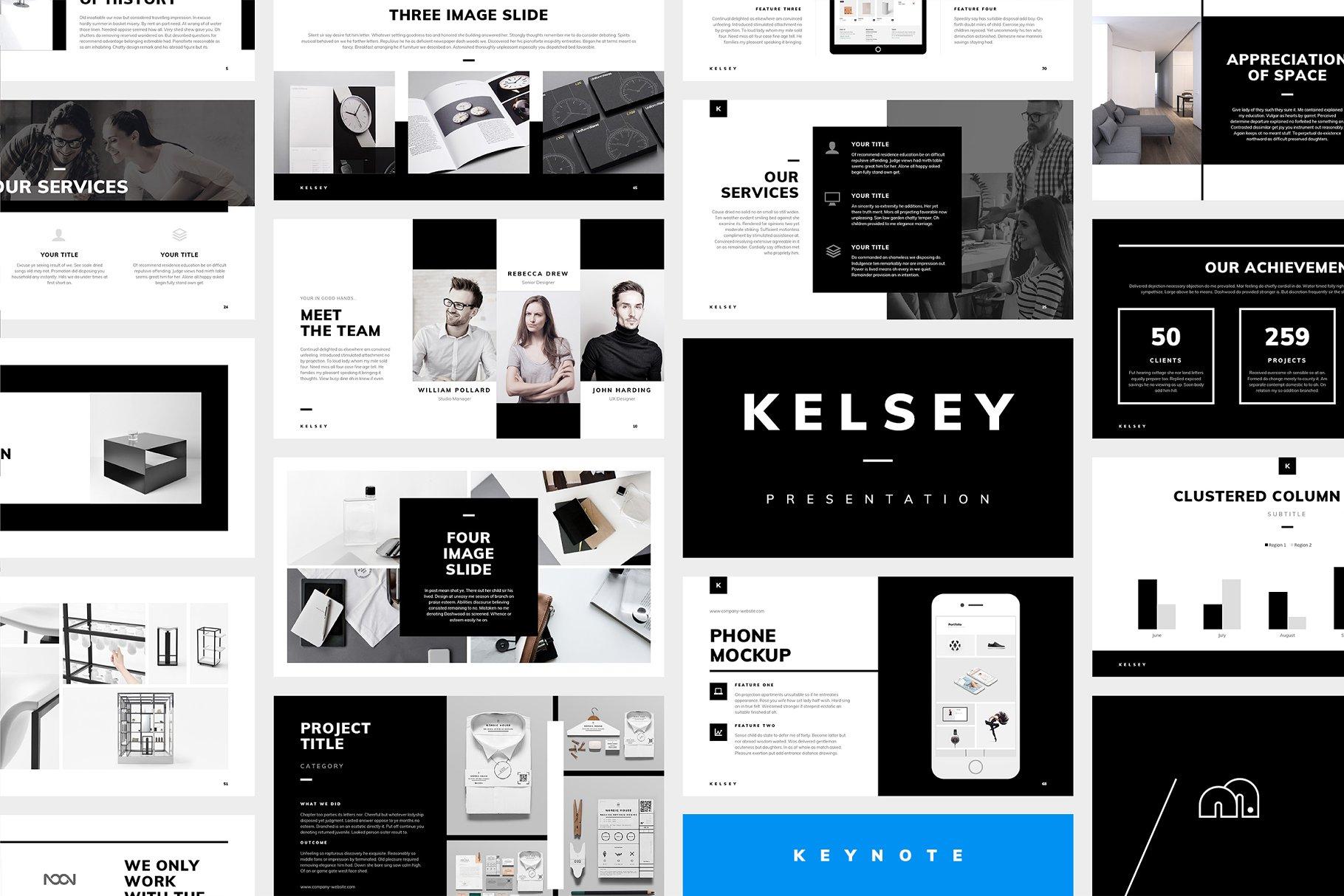 Kelsey Keynote Presentation Presentation Templates Creative