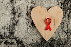 red ribbon for the fight