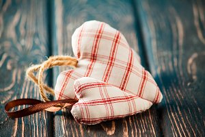 Heart from cloth