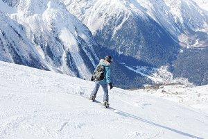 Snowboarder girl.