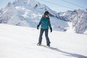 Snowboard sport.