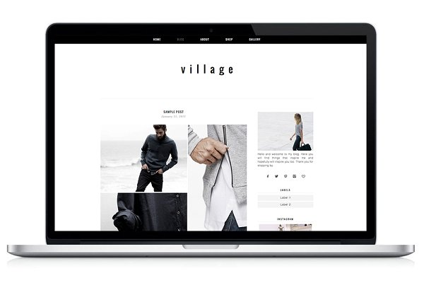 WordPress eCommerce Themes: Light Morango - Woocommerce WP Theme - Village
