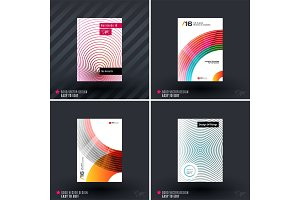 Design of business vector template, brochure