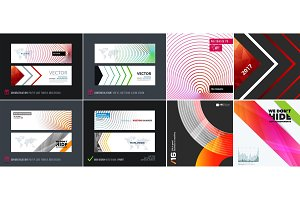 Abstract vector set of modern horizontal website banners
