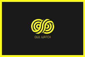 Owl Watch Logo Template