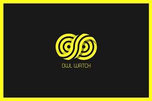 Owl Watch Logo Template
