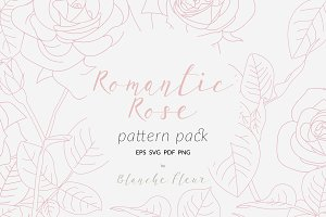 Romantic Rose Pattern Pack