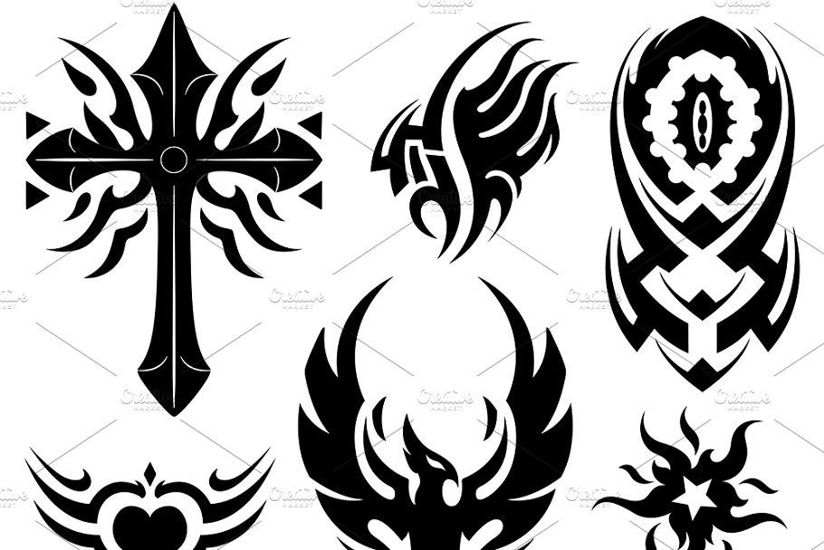 2f53fa249a330 Tribal Tattoo ~ Illustrations ~ Creative Market