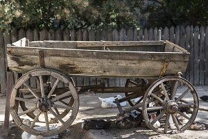 wooden cart for a horse