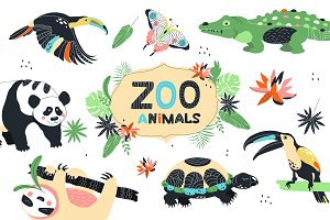 Seamless zoo patterns