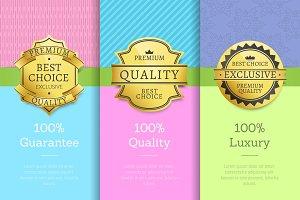 100 % Guarantee Quality Luxury Exclusive Premium