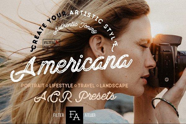 Americana ACR Photoshop Presets