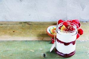 Jar of sweet breakfast