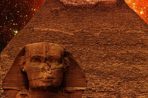 Sphinx, Pyramid and Magellanic Cloud