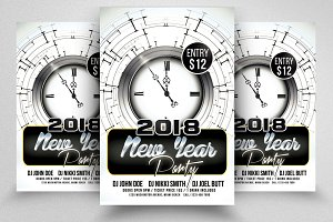 Happy New Year Psd Flyer  Templates