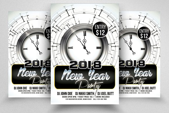 Happy New Year Psd Flyer  T-Graphicriver中文最全的素材分享平台
