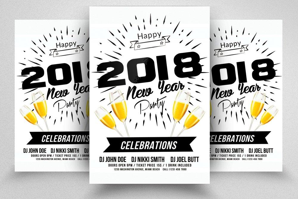Happy New Year Flyer ~ Flyer Templates ~ Creative Market