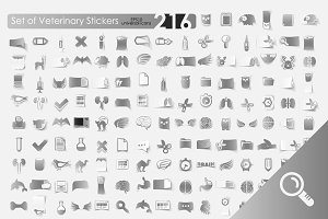 216 VETERINARY stickers