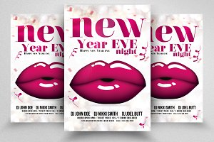 Happy New Year Ladies Night Flyer