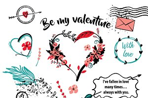SALE 50% Set Valentine's Day card