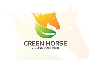 green horse – Logo Template