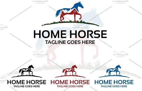 Home Horse Logo Template