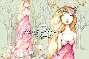 Woodland Princess Clipart