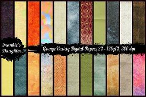Grunge Variety Digital Paper Pack
