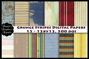 Grunge Stripes Digital Papers